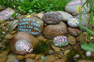 wishing pebbles RHS Chelsea