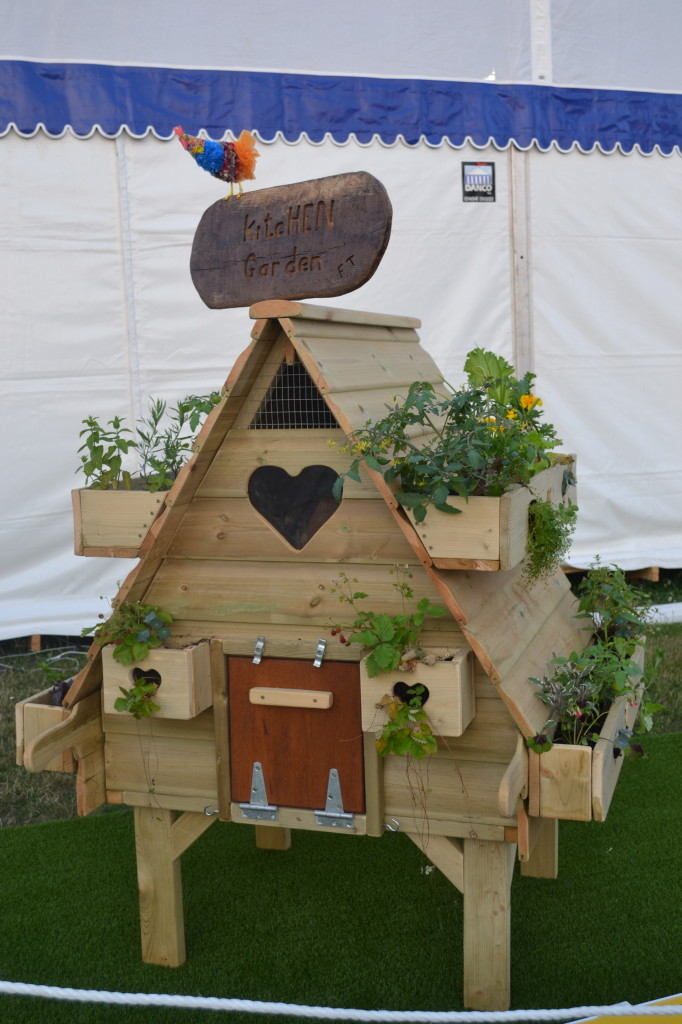Hampton Court Flower Show Celebrity hen houses