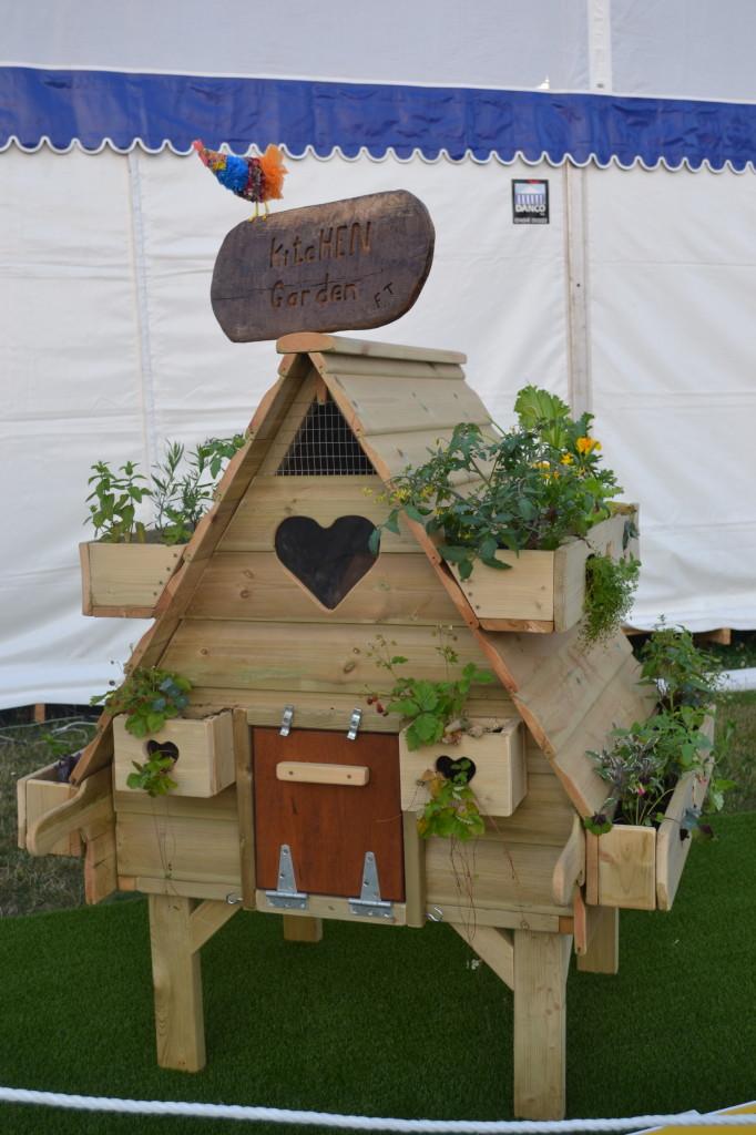 Hampton Court Flower Show Celebrity hen houses