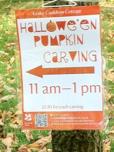 pumpkin carving notice