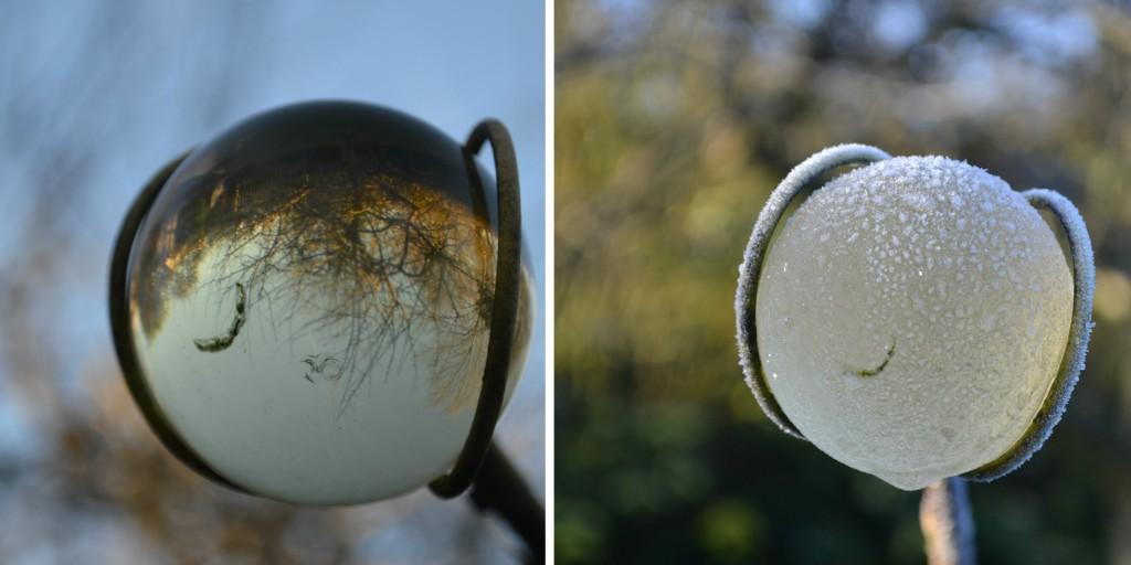 view through glass ball