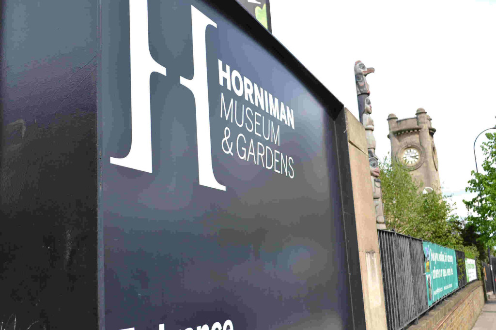 Sign for horniman museum